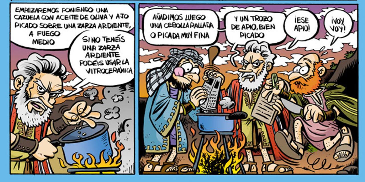 Moisés y su receta de la salsa de 'Espaguetis definitiva'