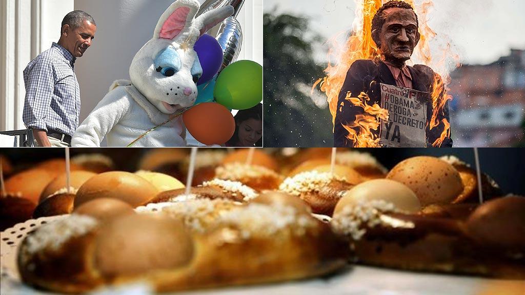Monas, conejos, Judas quemados y otras tradiciones de la Pascua