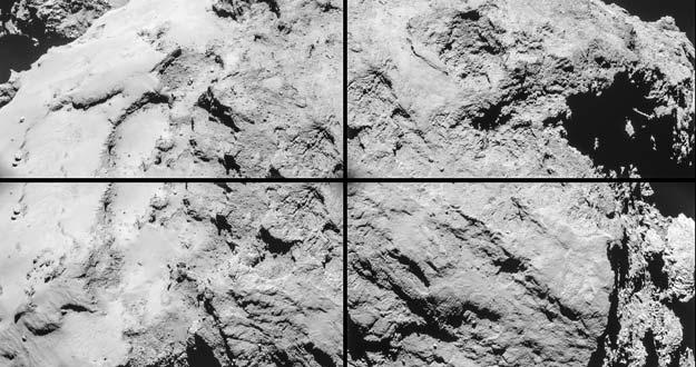 Rosetta capta al detalle las formas del cometa 67P en su máximo acercamiento
