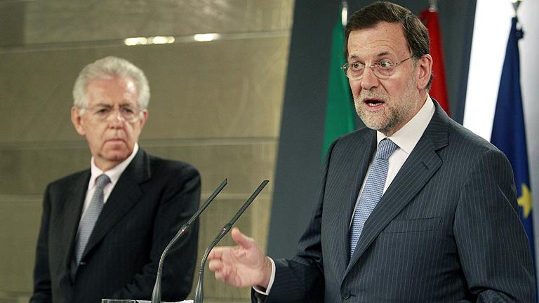 Monti no descarta acudir al fondo de rescate para que el BCE compre deuda y Rajoy evita contestar
