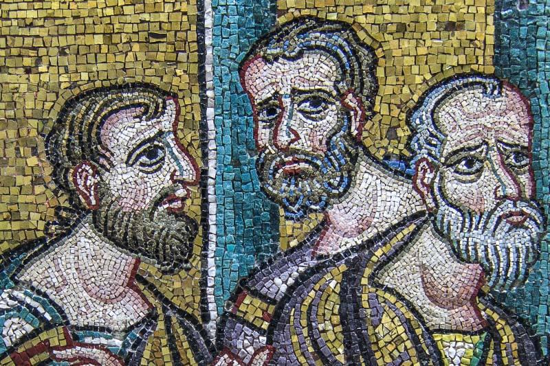 Mosaicos cruzados de la Basílica de Belén