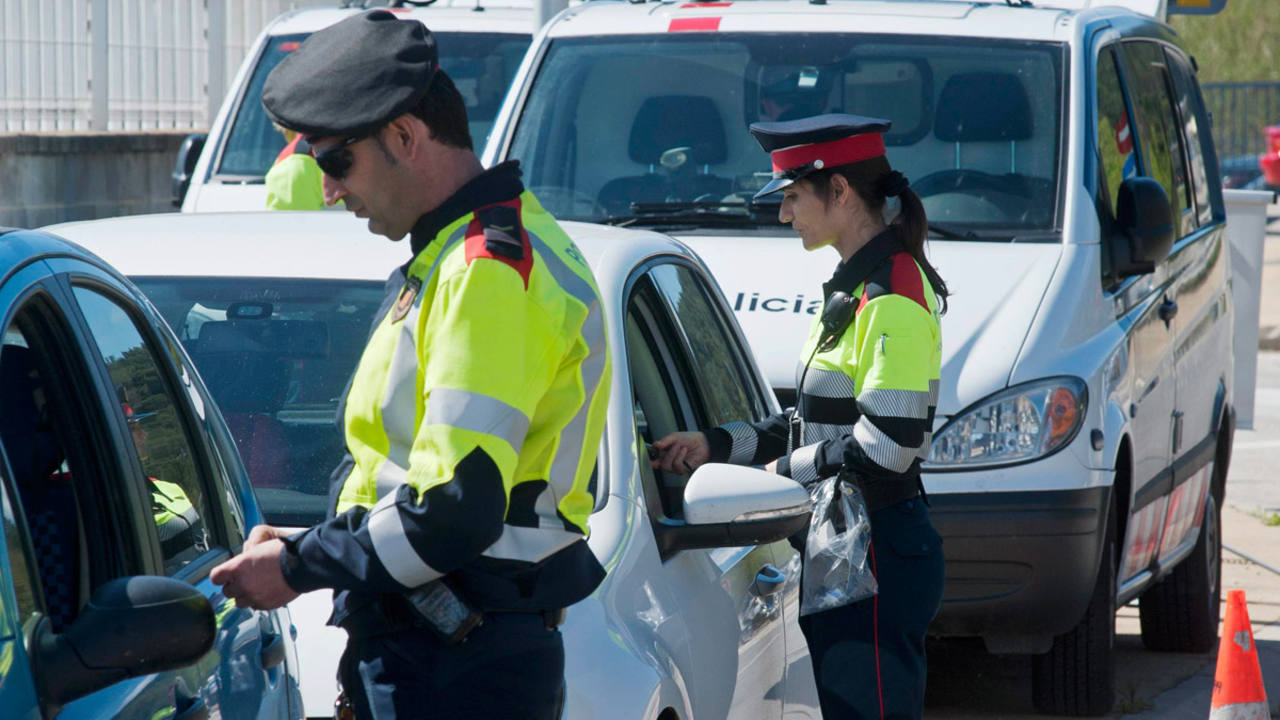 Mossos d'Esquadra destinados a Tráfico del Área de Girona
