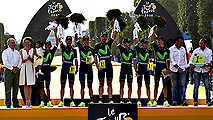 Movistar, cuarta vez mejor equipo del Tour