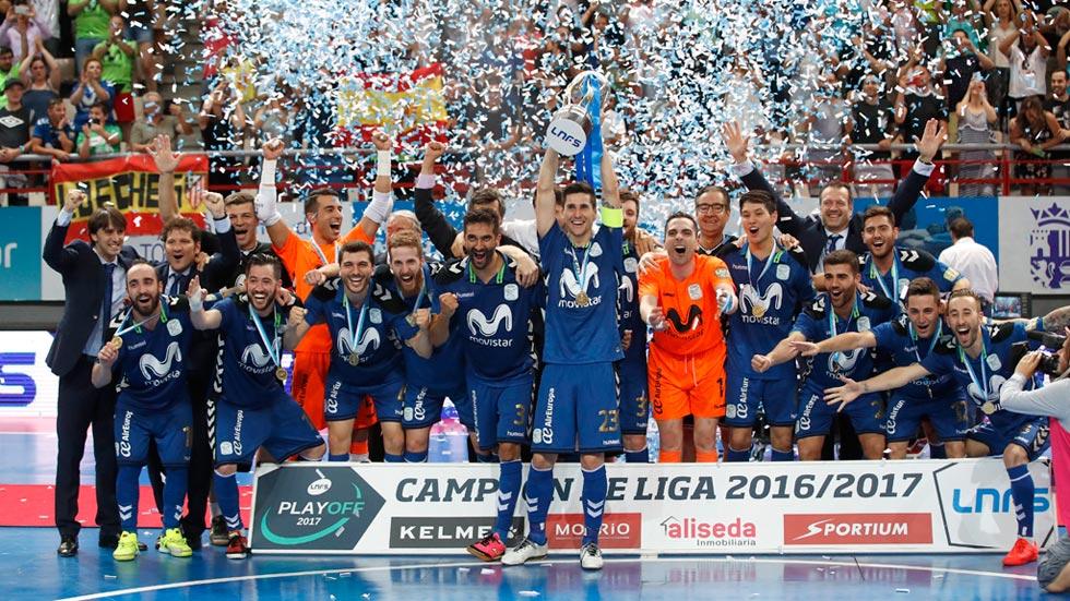El Movistar Inter se proclama campeón de la LNFS