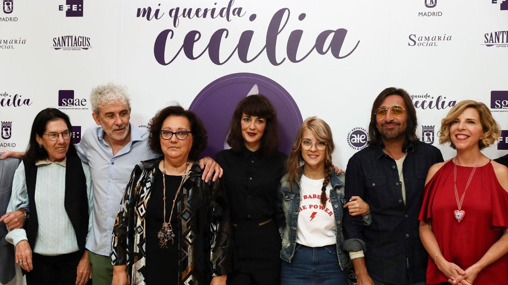 Muchos artistas se reúnen para hacer un homenaje a Cecilia