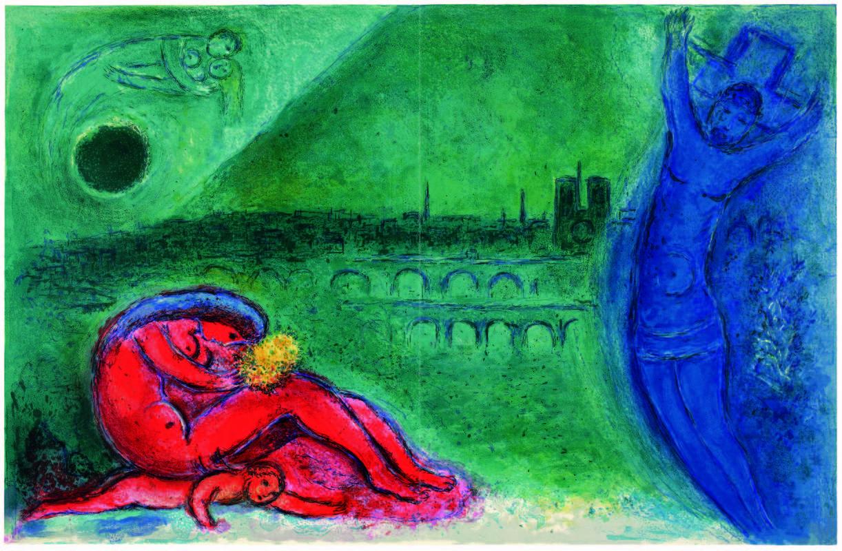 'Muelle de la Tournelle', 1960 © VEGAP, Madrid, 2016 - Chagall®