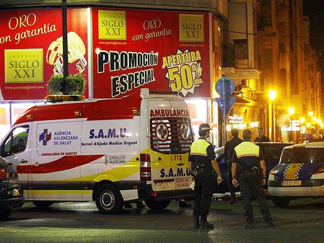 Un muerto y tres heridos en un atraco a una joyería de Alicante
