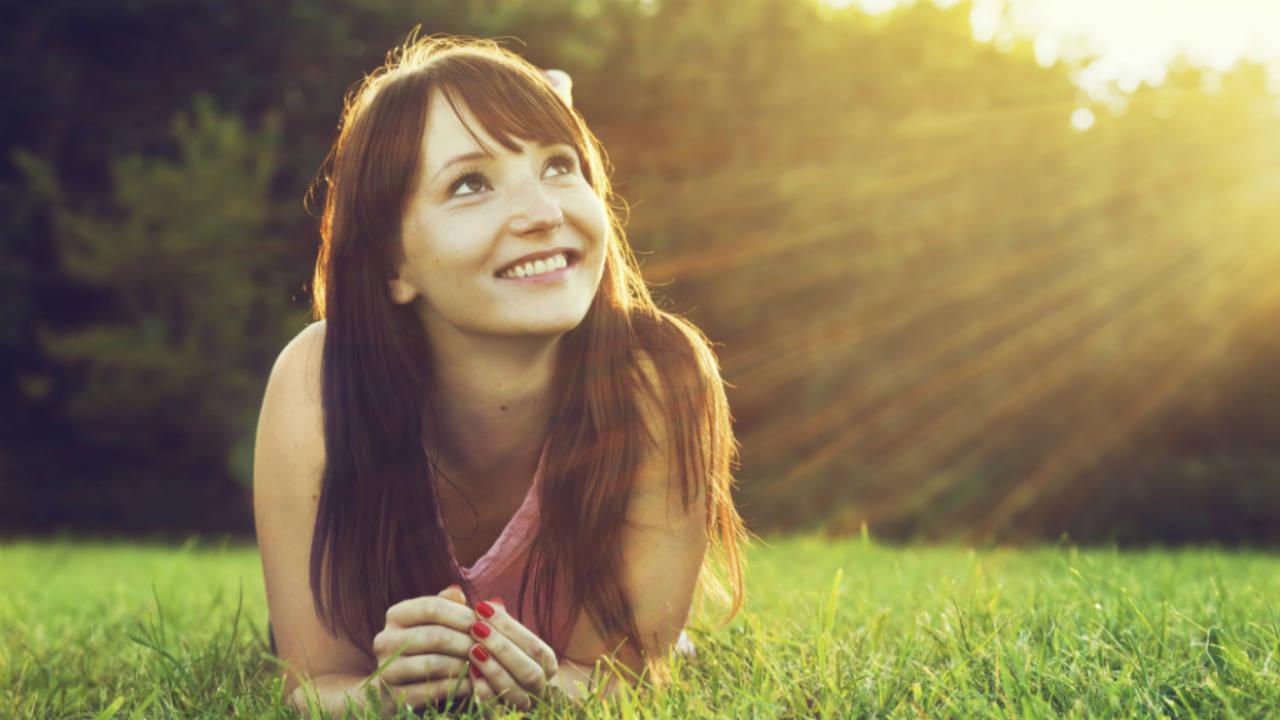 Una mujer optimista