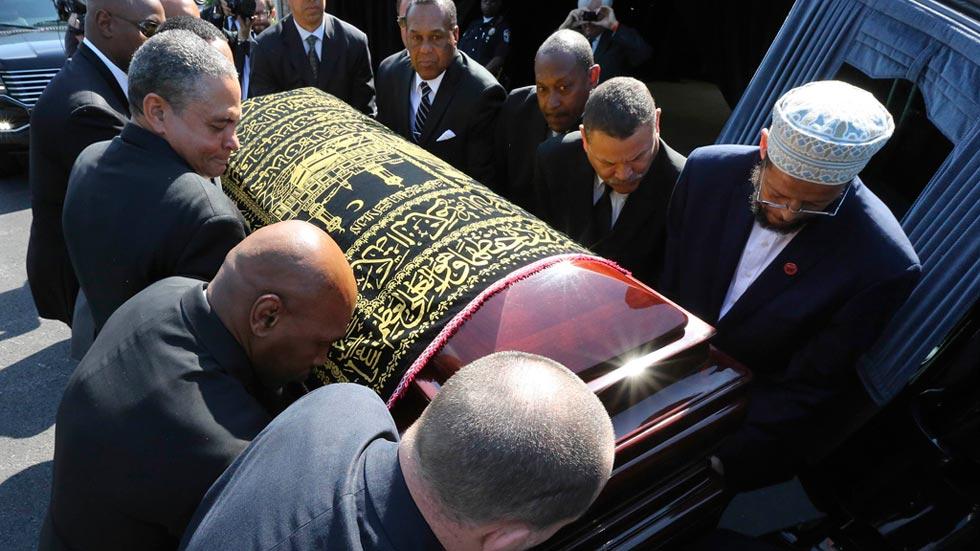 Multitudinario adiós a Mohamed Alí