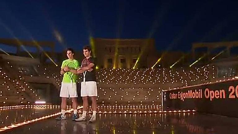 Nadal y Federer, a la luz de las velas