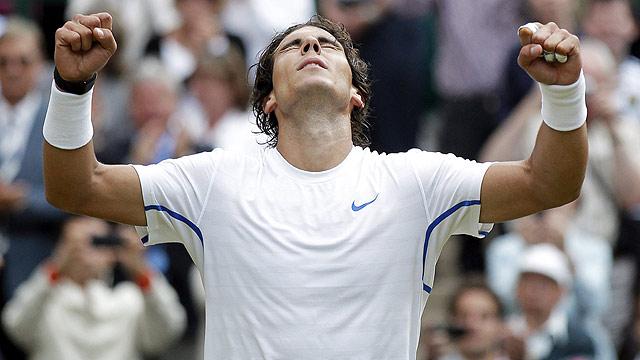 Nadal, en la final de Wimbledon