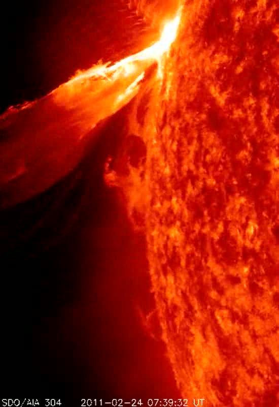 La NASA capta una gigantesca erupción solar