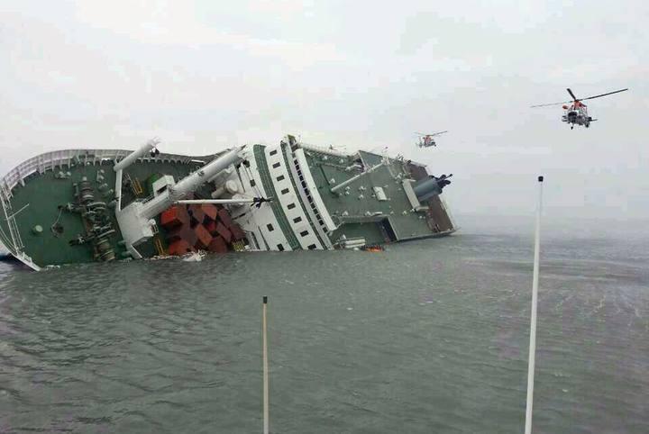 Naufragio del ferry surcoreano 'Sewol' en abril de 2014.