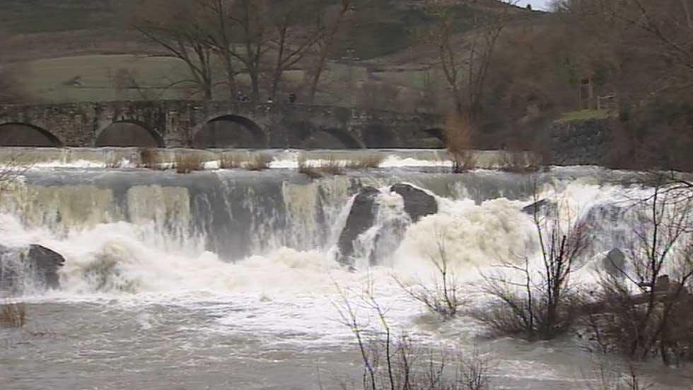 Navarra, la Rioja y Burgos en alerta por el deshielo y las lluvias previstas