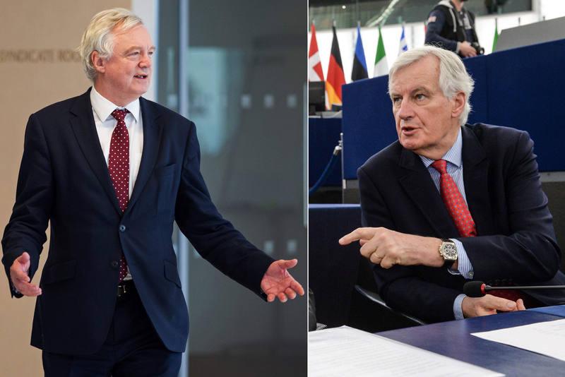 Los negociadores: David Davis (Reino Unido) y Michel Barnier (Unión Europea).