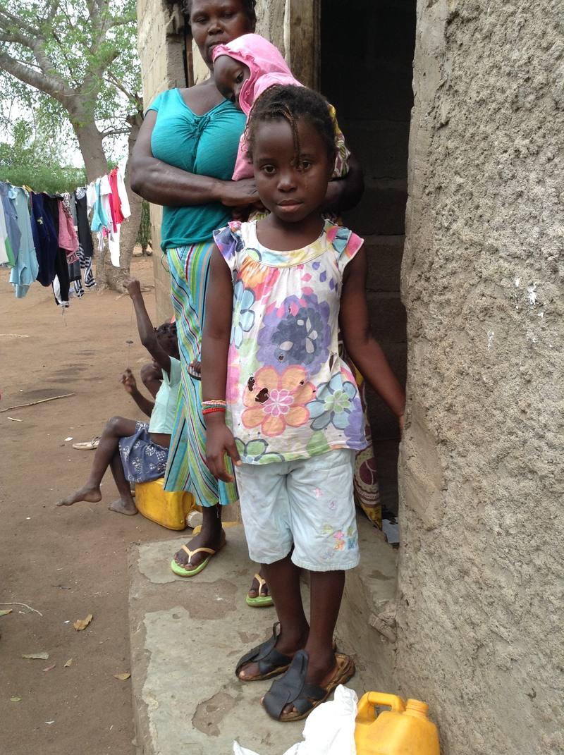 Neyma, otra de las menores que atiende la Fundaçao Encontro