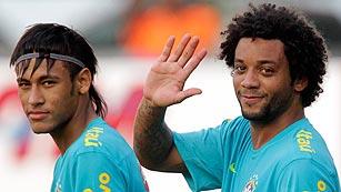 Neymar y Marcelo calientan motores con la selección olímpica brasileña