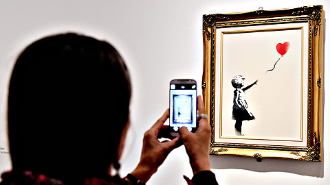 La 'Niña con globo' de Banksy es la obra de arte favorita de los británicos