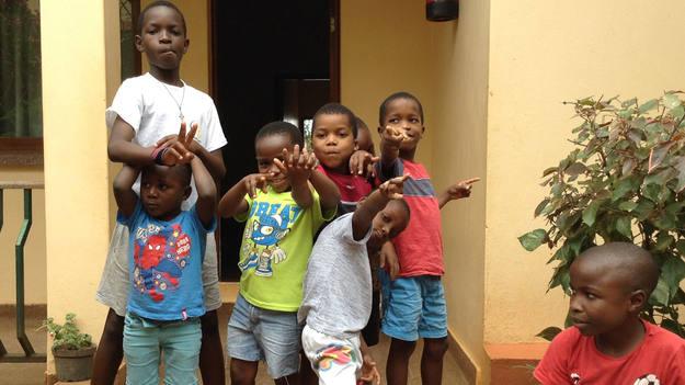 Niños en la Casa do Gaiato, en Mozambique