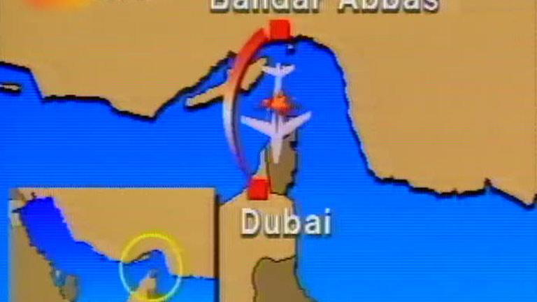 La noticia del derribo del Airbus iraní, en el Telediario del 4 de julio de 1988