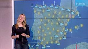 Nubes en el área cantábrica y despejado en el resto del país