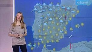 La nubosidad persiste en el Cantábrico y en el resto, día soleado