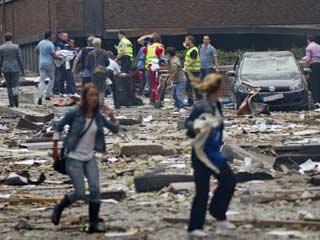 Nuevas imágenes del atentado de Oslo de un videoaficionado