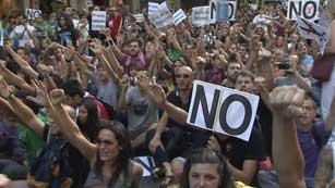 Nueve detenidos en las protestas contra las medidas