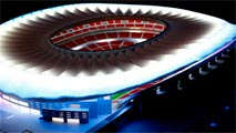 Ir al VideoEl nuevo estadio del Atlético de Madrid estará iluminado íntegramente por led