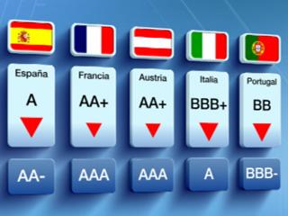 Rebaja de nota de la agencia Standard and Poor's a la deuda de 9 países de la eurozona