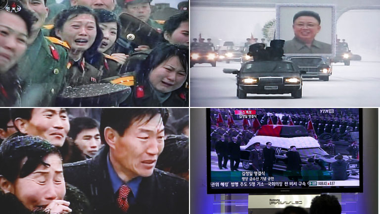 El nuevo líder de Corea del Norte da el último adiós a su padre, Kim Jong-il