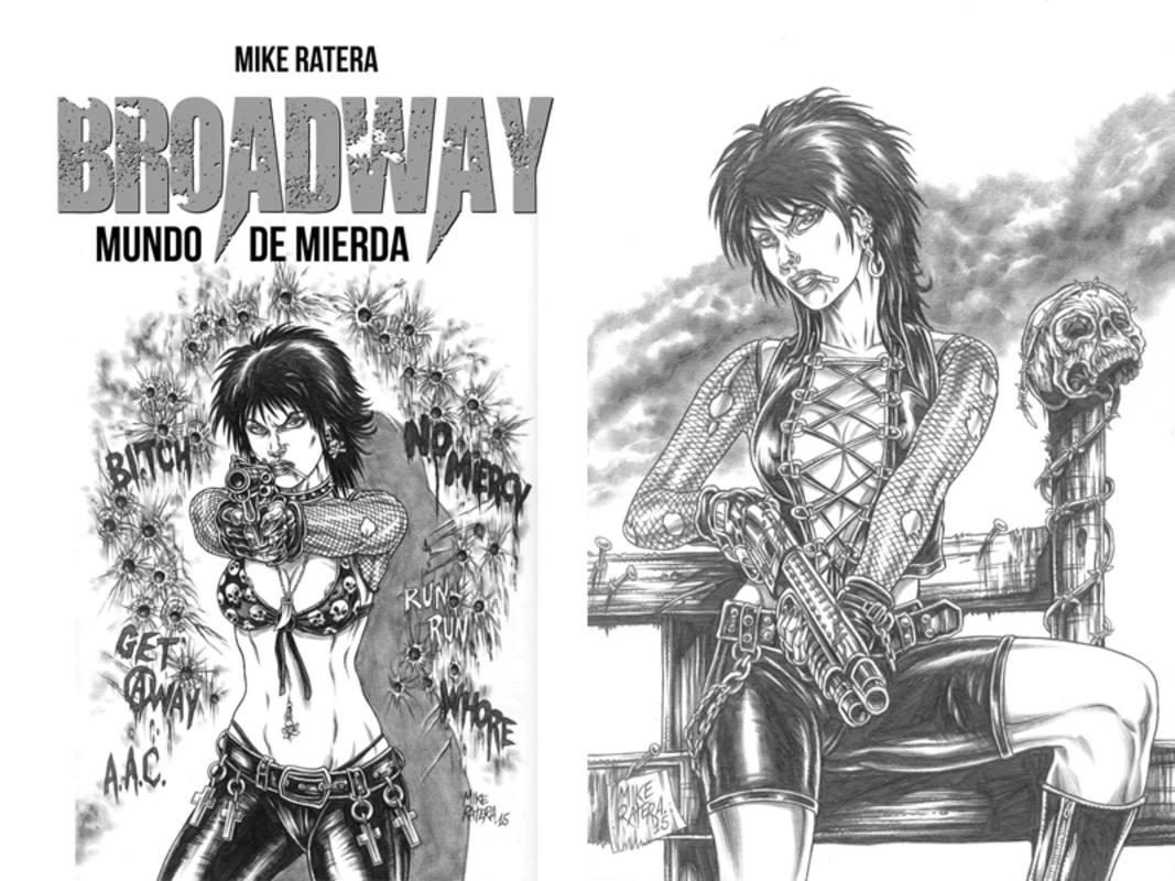 Nuevos dibujos de MIke Ratera para la edición integral de 'Broadway'