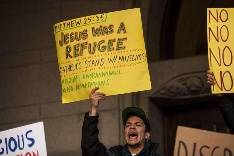 Numerosas protestas contra el veto migratorio recorren Estados Unidos