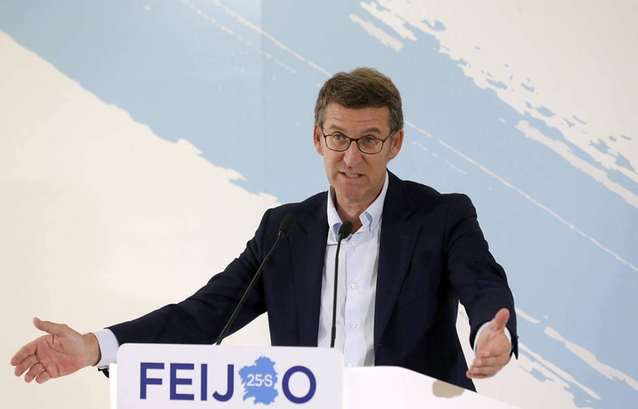 Núñez Feijóo, mayoría absoluta en Galicia