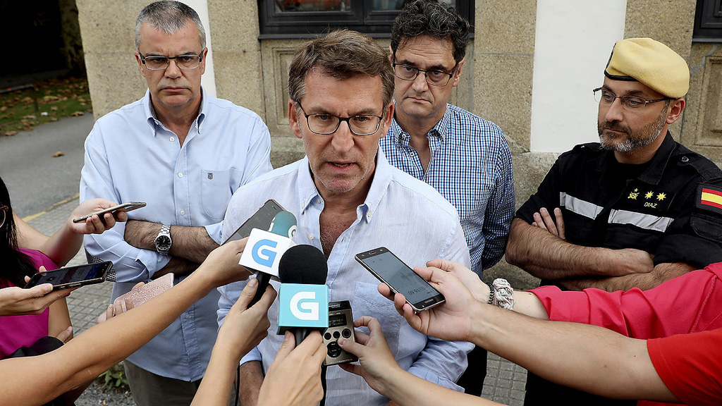 """Núñez Feijóo reconoce que la situación en Galicia es """"compleja"""""""