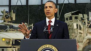 """Obama dice en Afganistán que la derrota de Al Qaeda """"está al alcance"""""""