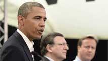 Ir al VideoObama elogia el futuro tratado de comercio entre la UE y EE.UU.