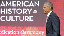 """Ir al VideoObama inaugura con """"la campana de la libertad"""" el museo afroamericano de EEUU"""