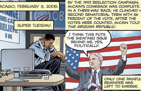 Las biografías de Obama y McCain, en cómic