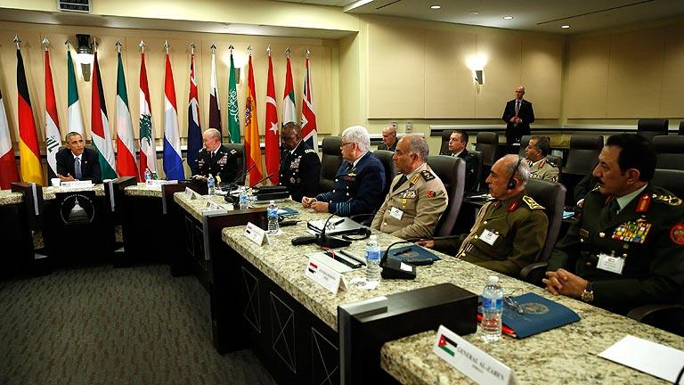 Obama se reúne con los jefes militares de los países que apoyan la guerra contra el Estado Islámico