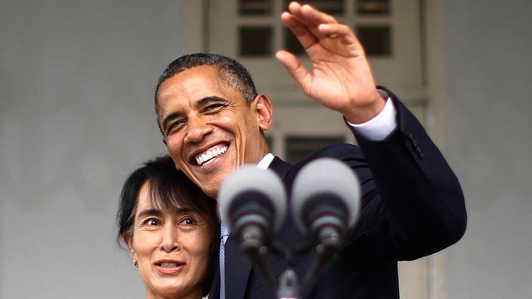 Obama visita Birmania y se entrevista con la líder opositora, Suu Kyi