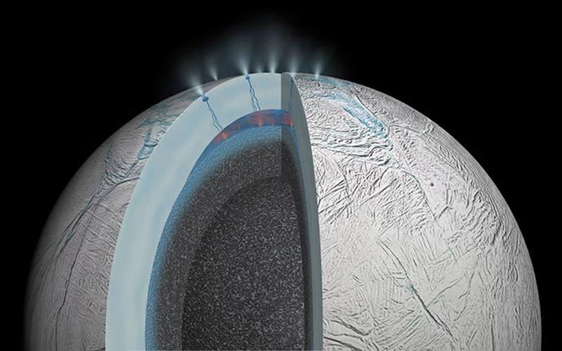 El océano bajo la luna Encélado puede tener miles de millones de años