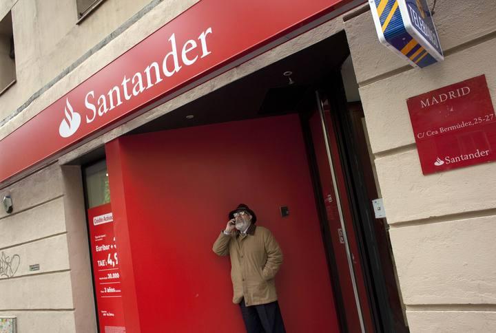 Oficina del Banco Santander en Madrid