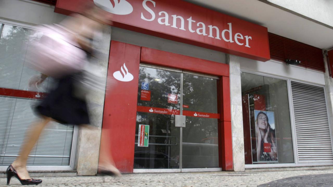 Una oficina del Santander en Rio de Janeiro