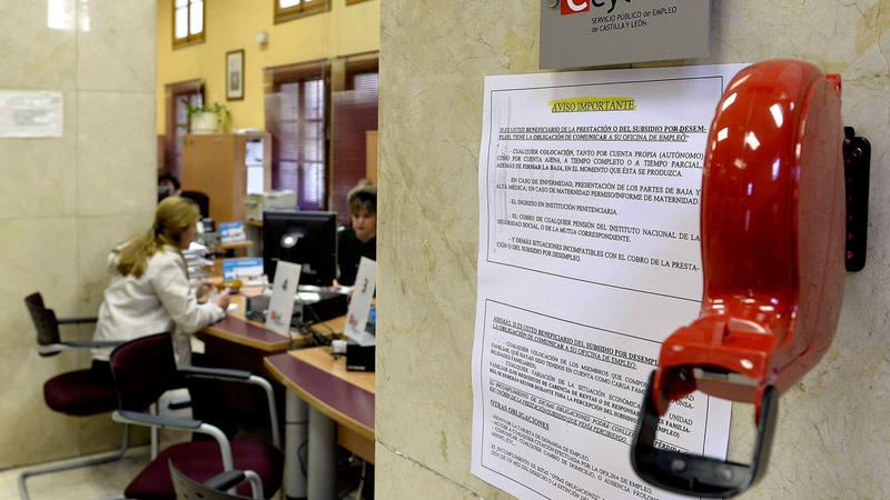 Una oficina de empleo de Valladolid en una imagen de archivo.