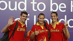 Los olímpicos españoles desembarcan en Londres y a por todas