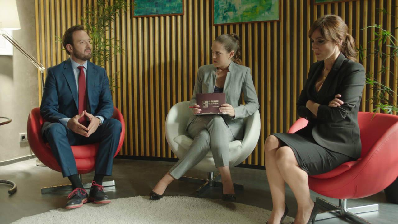 Olmos y Robles - Cata y Damián, en el debate electoral