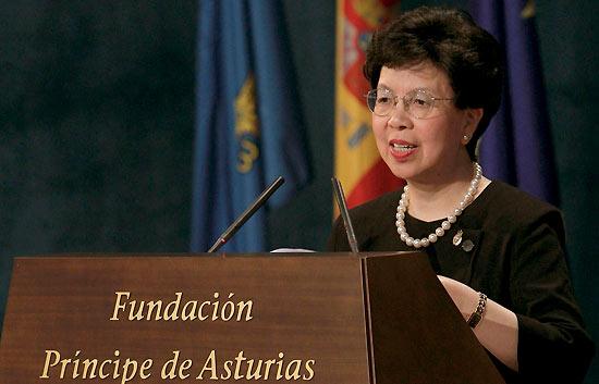 Discurso íntegro de Margaret Chan en los Príncipe de Asturias