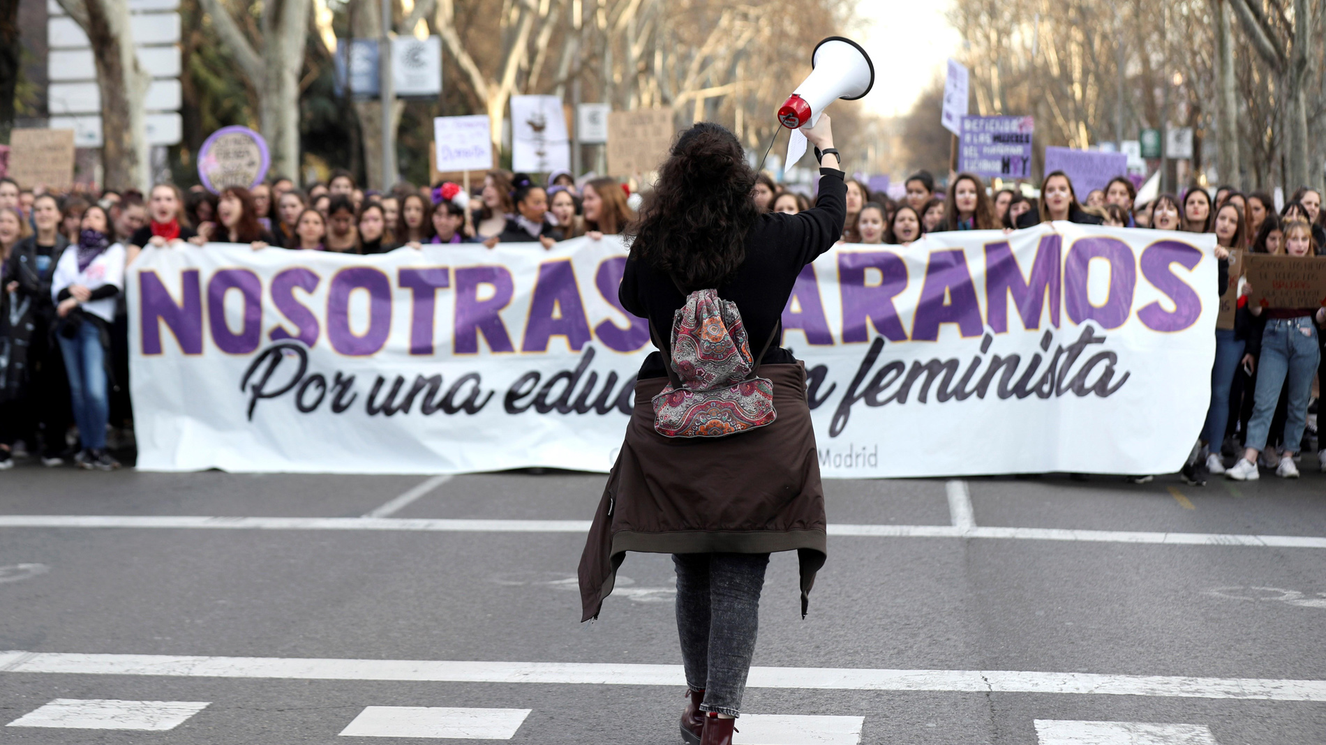 Ir al VideoLas organizadoras del 8M califican de éxito la movilización feminista