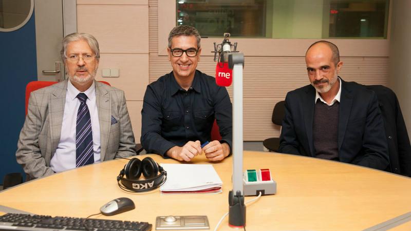 Otra imagen de Diego Fernández, Arturo Martín y José Heredia en nuestra última madrugada